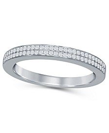 Diamond (1/5 ct. t.w.) Pave Two Row Band in 14K White Gold