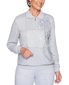 All About Ease Embellished Sweatshirt