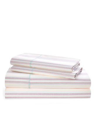 Ralph Lauren Claudia Stripe Queen Sheet Set