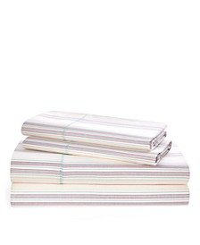 Ralph Lauren Claudia Stripe Queen Sheet Set