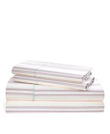 Ralph Lauren Claudia Stripe King Sheet Set
