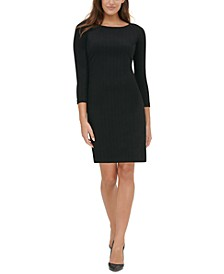 Petite 3/4-Sleeve Sweater Dress
