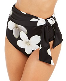 Villa Floral-Print High-Waist Bikini Bottoms