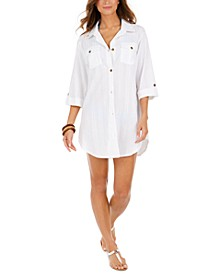 Travel Muse Cotton Shirtdress Cover-Up