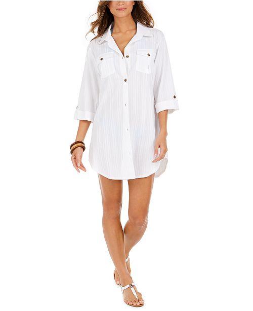 Dotti Travel Muse Cotton Shirtdress Cover-Up