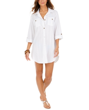 Travel Muse Cotton Shirtdress Cover-Up Women's Swimsuit