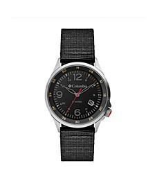 Men's Canyon Ridge Black Nylon Strap Watch 42mm