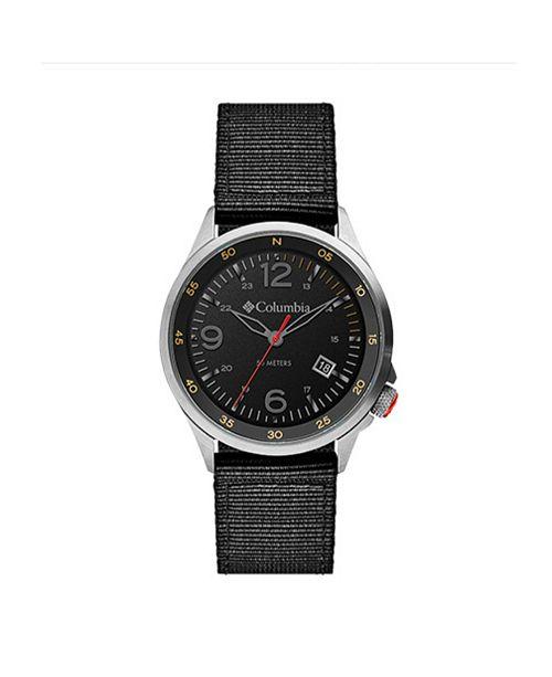 Columbia Men's Canyon Ridge Black Nylon Strap Watch 42mm
