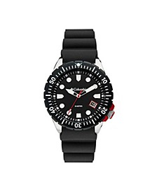 Men's Pacific Outlander Black Silicone Strap Watch 42mm