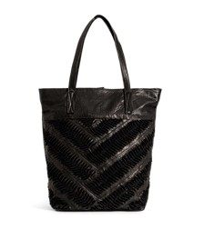 Ebony Leather Tote