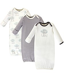Baby Boy and Girl Organic Cotton Gown, 3 Pack