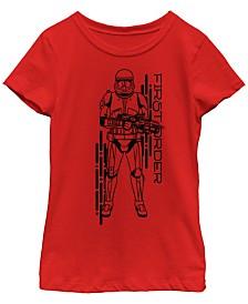 Star Wars Big Girls Rise of Skywalker First Order Sith Strooper T-Shirt
