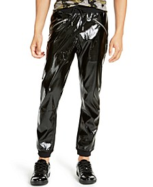 INC Men's Shiny Jogger Pants, Created For Macy's