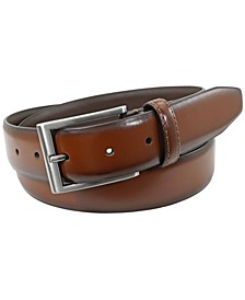Carmine Leather Dress Belt
