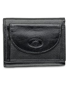 Equestrian2 Collection RFID Secure Trifold Wallet with Coin Pocket