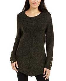 Petite Metallic Swing Sweater, Created for Macy's