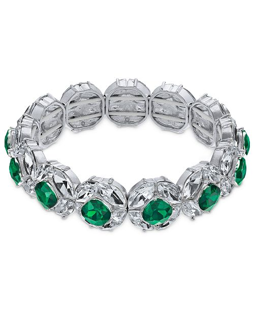 Charter Club Crystal & Stone Stretch Bracelet, Created for Macy's