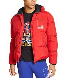 Men's Box Logo Hooded Puffer Jacket