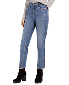 Juniors' High-Rise Slim Straight-Leg Jeans