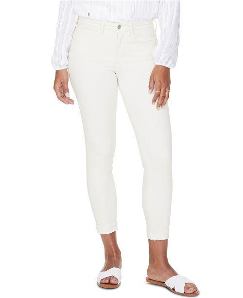 NYDJ Ami Cuffed Embellished Jeans