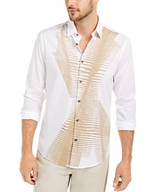 Men's Classic-Fit Abstract Line-Print Shirt, Created For Macy's