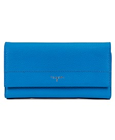 Flap Gusset Leather Clutch