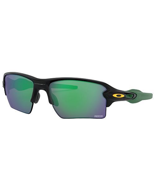 Oakley NFL Collection Sunglasses, Green Bay Packers OO9188 59 FLAK 2.0 XL