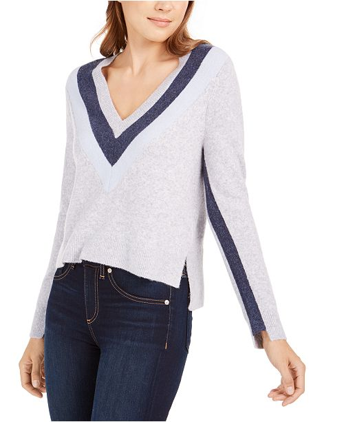 Calvin Klein Jeans V-Neck Chevron Sweater
