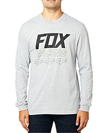 Men's Racing Logo Graphic Long Sleeve T-Shirt