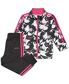 Little Girls 2-Pc. Printed Jacket & Pants Tricot Track Set