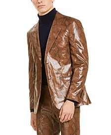 Men's Brown Snakeskin Sport Coat