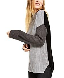 Mock-Neck Colorblocked Sweater
