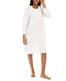 Women's Brushed Honeycomb Pointelle Knit Nightgown