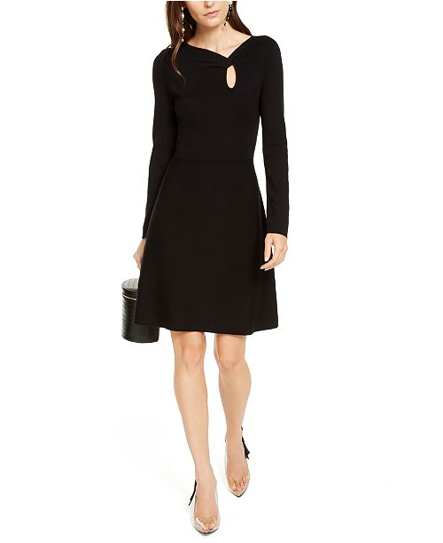 INC International Concepts INC Asymmetrical-Neck Sweater Dress, Created For Macy's