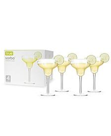 True Sorbo 10 Oz Margarita Glasses- Set of 4