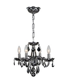 Clarion 4-Light Chrome Finish and Chrome Crystal Chandelier