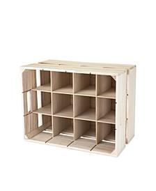 True Wooden Crate Wine Rack