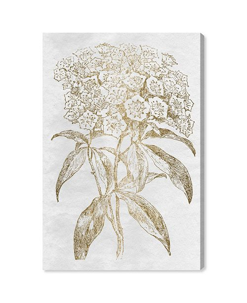 "Oliver Gal Floral Sketch Gold Canvas Art, 16"" x 24"""