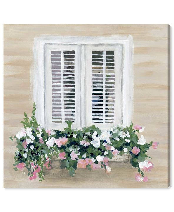 """Oliver Gal Flowers in My Window Canvas Art, 43"""" x 43"""""""