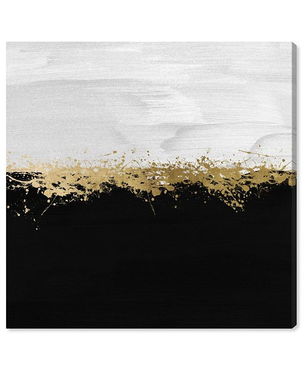"""Oliver Gal Halfway in Black and White Canvas Art, 24"""" x 24"""""""