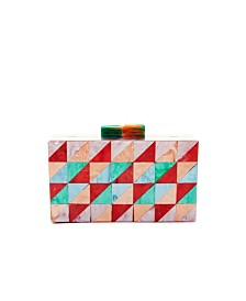 Like Dreams Geometric Boxy Clutch
