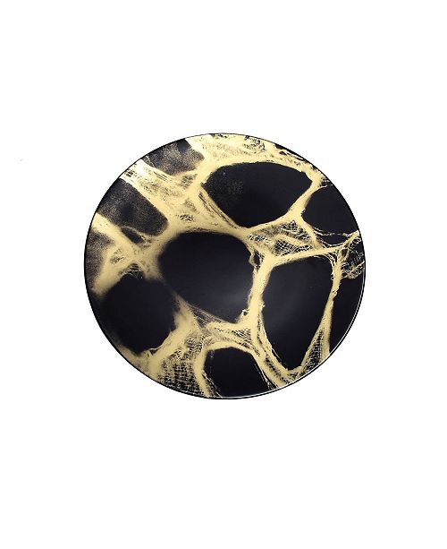 Classic Touch Set of 4 Marbleized Dinner Plates