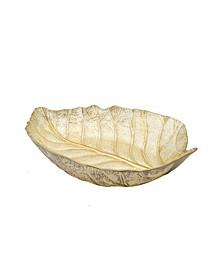 gold tone Leaf Shaped Dish