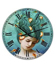 "Sweet Allure Large Modern Wall Clock - 36"" x 28"" x 1"""