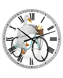 "Riding Bikes Large Modern Wall Clock - 36"" x 28"" x 1"""