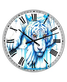 "Blue Tears Large Cottage Wall Clock - 36"" x 28"" x 1"""