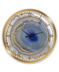 "Golden Water Agate Print Oversized Fashion Wall Clock - 38"" x 38"" x 1"""