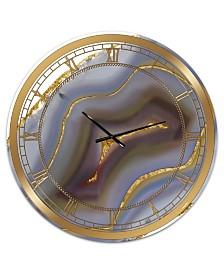 Designart Golden Water Agate Print Large Fashion 3 Panels Wall Clock 36 X 28 X 1 Reviews Clocks Home Decor Macy S