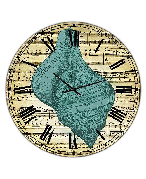 "Designart Blue Sea 2 Large Nautical & Coastal Wall Clock - 36"" x 28"" x 1"""