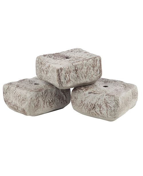 """RTS Home Accents Rock Lock End Rock Pack 3 Pcs with 1 18"""" Spike"""